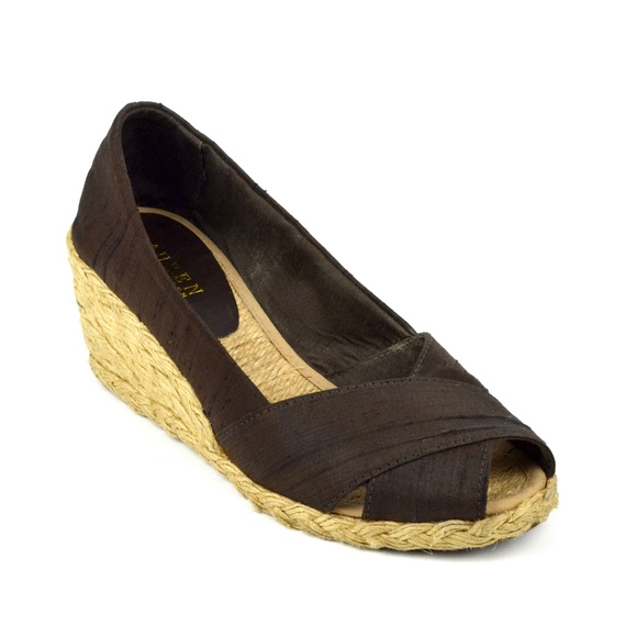 d6e4814a387d Lauren Ralph Lauren Shoes - Ralph Lauren Cecilia Peep Toe Espadrille Wedges